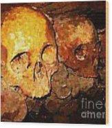 Skulls In The Paris Catacombs Wood Print
