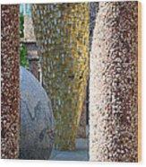 Skulpture Park Wood Print