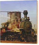 Skunk Train Wood Print