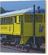 Skunk Train Passenger Car Wood Print
