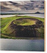 Skutustadagigar Pseudo Craters, Lake Wood Print
