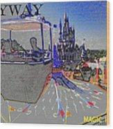 Skway Magic Kingdom Wood Print
