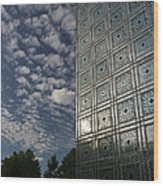 Sky And Building Wood Print by Gary Eason