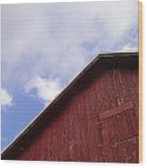 Sky And Barn Wood Print