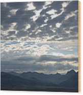 Sky And Mountains Wood Print