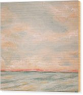 Sky And Sea Wood Print by Debi Starr