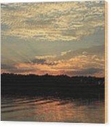 Sky And Sea Wood Print
