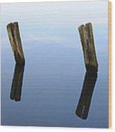 Sky-bound Wood Print by Luke Moore