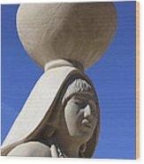 Sky City Cultural Center Statue 2 Wood Print