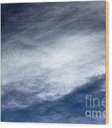 Sky Clouds Wood Print