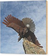 Sky Eagle Wood Print