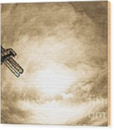 Sky Fall Wood Print by Fatemeh Azadbakht
