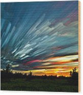 Sky Feathers Wood Print