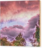 Sky Fire 2 Wood Print