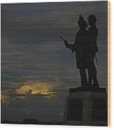 Sky Fire - 73rd Ny Infantry 4th Excelsior 2nd Fire Zouaves - Summer Evening Thunderstorms Gettysburg Wood Print by Michael Mazaika
