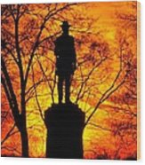 Sky Fire - Flames Of Battle 50th Pennsylvania Volunteer Infantry-a1 Sunset Antietam Wood Print