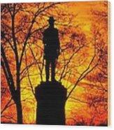 Sky Fire - Flames Of Battle 50th Pennsylvania Volunteer Infantry-a1 Sunset Antietam Wood Print by Michael Mazaika