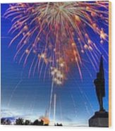 Sky Fire - Pennsylvania At Antietam - 132nd Pa Volunteer Infantry July 4th 2014 - 1b Wood Print