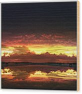 Sky Fire Siesta Key Wood Print