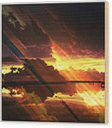 Sky Fire Siesta Key II Wood Print by Alison Maddex