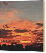 Sky Flames Wood Print