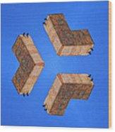 Sky Fortress Progression 2 Wood Print