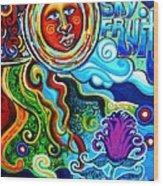 Sky Fruit Wood Print