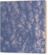 Sky Full Of Cloud Puffs Wood Print