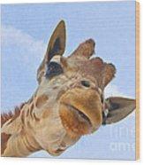 Sky High Giraffe Wood Print