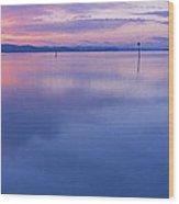 Sky In The Water Wood Print
