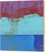 Sky Into The Sea Wood Print