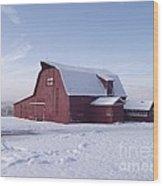 Sky Line Farm Wood Print