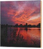 Sky On Fire 2 Wood Print