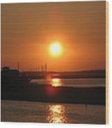 Sky On Fire Over Chincoteague Island Wood Print