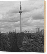 Sky Over Berlin Wood Print