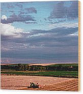 Sky Over Harvest Wood Print