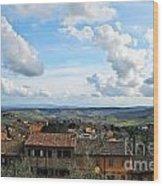 Sky Over Tuscany Wood Print