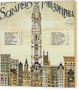 Sky Scrapers Of Philadelphia 1896 Wood Print
