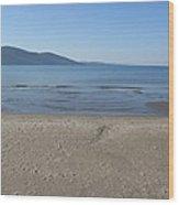 Sky Sea Sand Wood Print