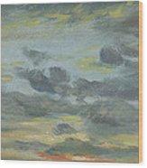 Sky Study, Sunset, 1821-22 Wood Print