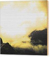 Sky Trails Wood Print