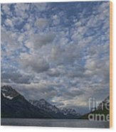 Sky Water Mountains Wood Print