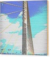 Skybridge Wood Print