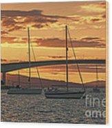 Skye Bridge Sunset Wood Print