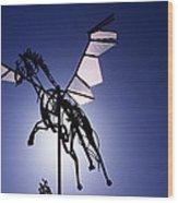 Skyhorse Wood Print