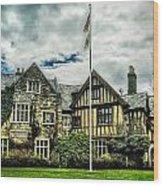 Skylands Manor Wood Print