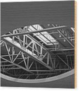 Skylight Gurders In Black And White Wood Print