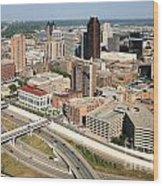 Skyline Aerial Of St. Paul Minnesota Wood Print