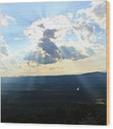 Skyline Drive Sunrays Wood Print by Candice Trimble