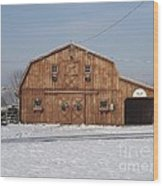 Skyline Farm Horse Barn Wood Print